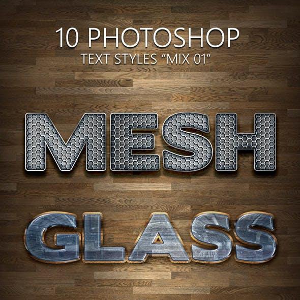 "10 Photoshop Styles ""Mix 01"""