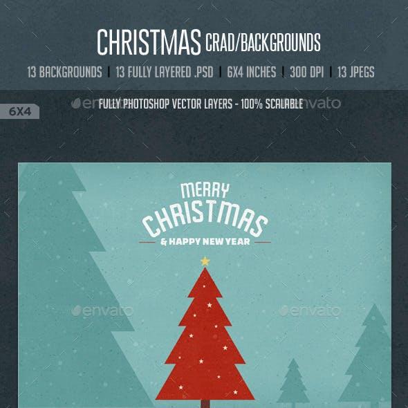 Vintage Christmas Card / Backgrounds