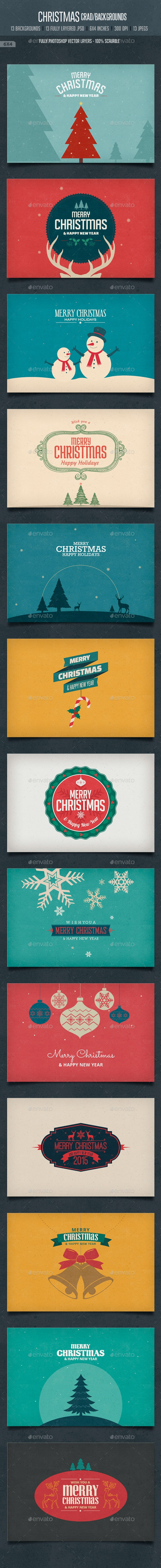 Vintage Christmas Card / Backgrounds - Backgrounds Graphics
