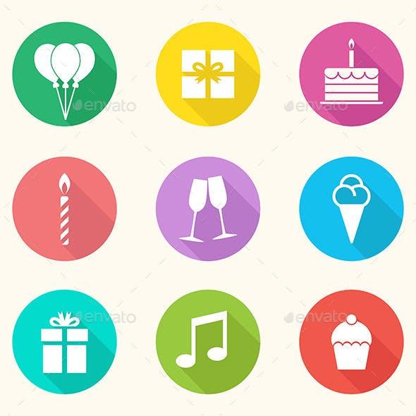 Birthday Icons - Vector