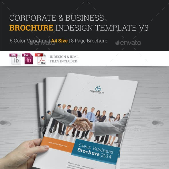 Corporate Multipurpose Brochure Template v3