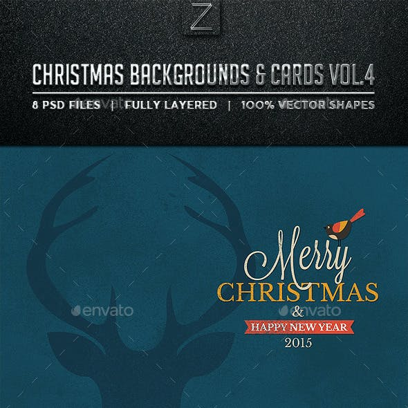 Christmas Backgrounds and Cards Vol.4