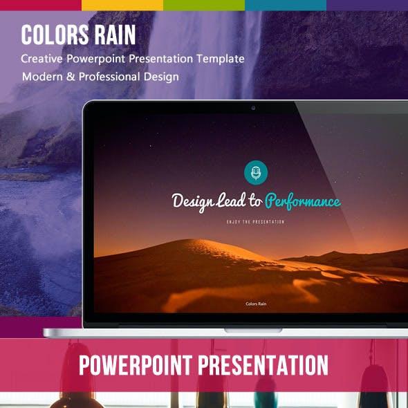 Colors Rain Powerpoint