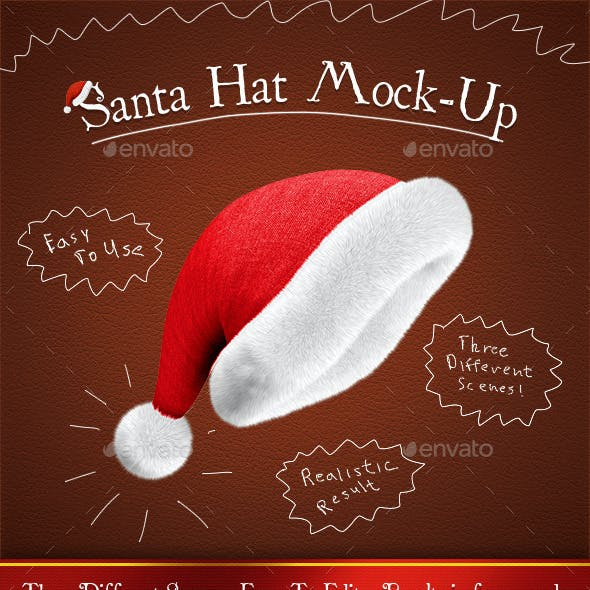 Santa Hat Mock-Up