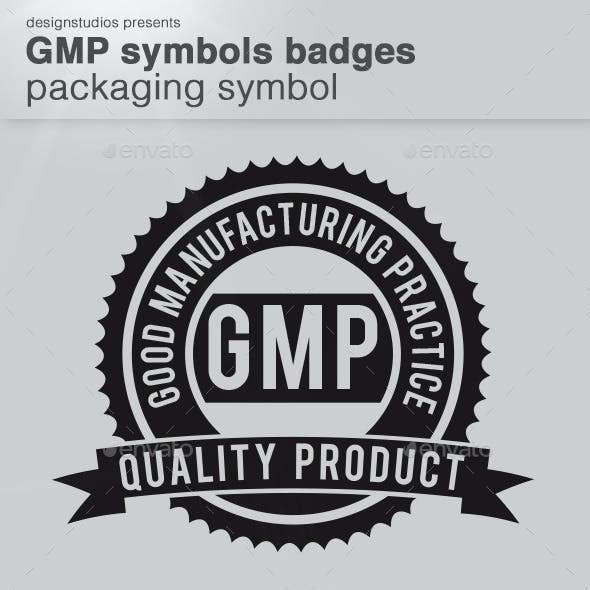 GMP Symbols Badge Packaging Symbol