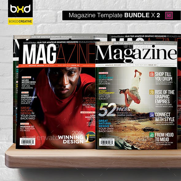 Magazine Template Bundle - InDesign Layout V2