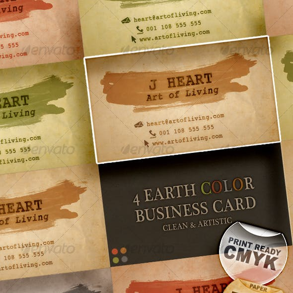 4 Earth Color Business Card – Clean & Artistic