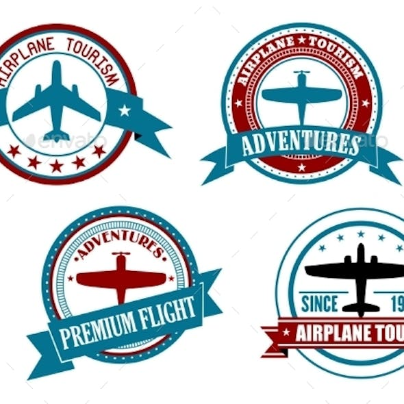 Airplane Tours and Adventures Badges