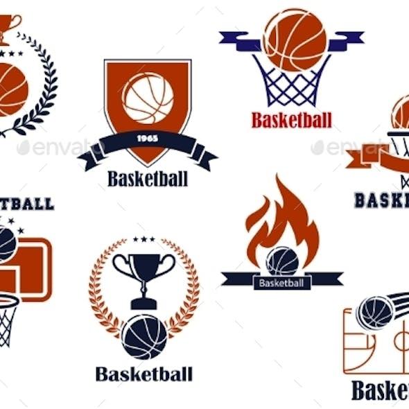 Basketball Tournament and Emblem Designs