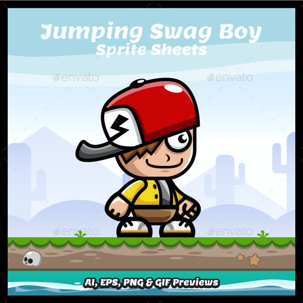 Running and Jumping Swag Boy Spritesheets