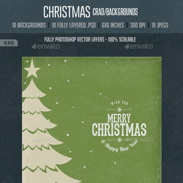 Vintage Christmas Square Cards / Backgrounds
