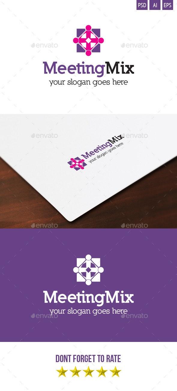 Meeting Mix Logo - Symbols Logo Templates