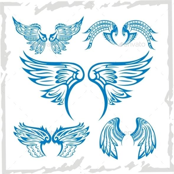 Wings Set Vinyl-Ready Illustration