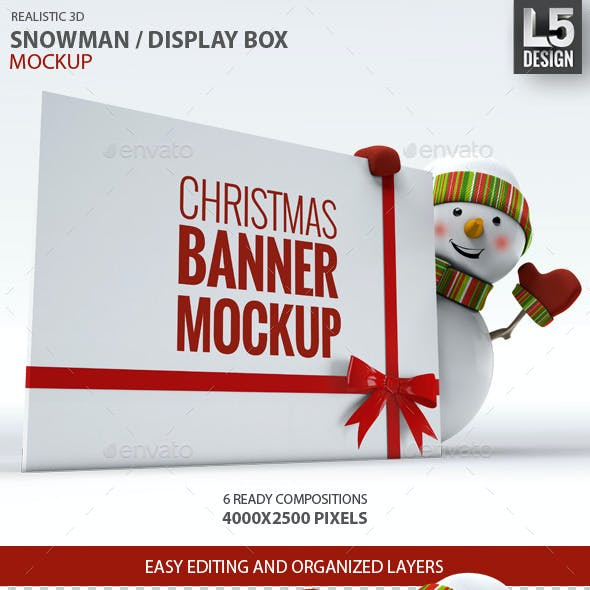 Snowman / Display Box Mock-up