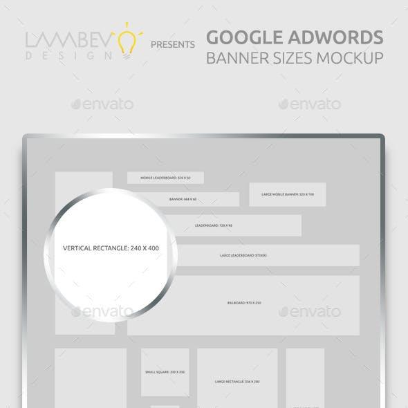 Google AdWords Banner Sizes Mockup