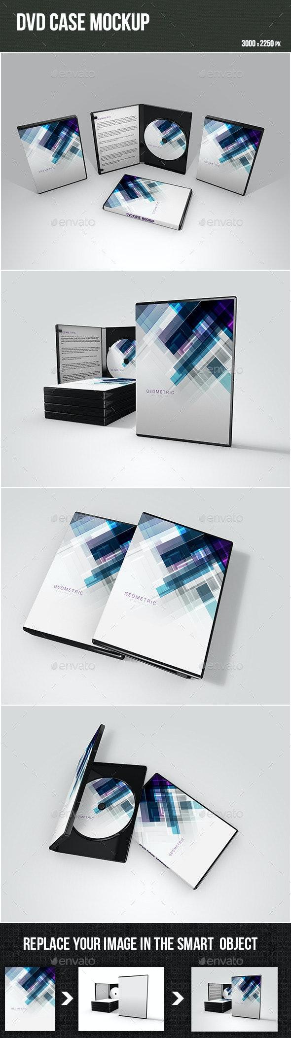 DVD Case Mockup - Product Mock-Ups Graphics