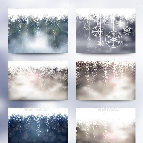 8 Christmas Backgrounds