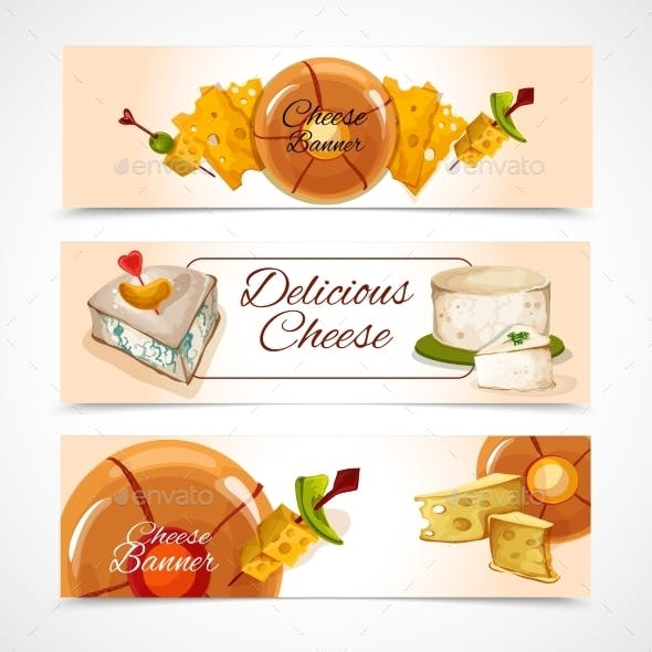 Cheese Banners Horizontal