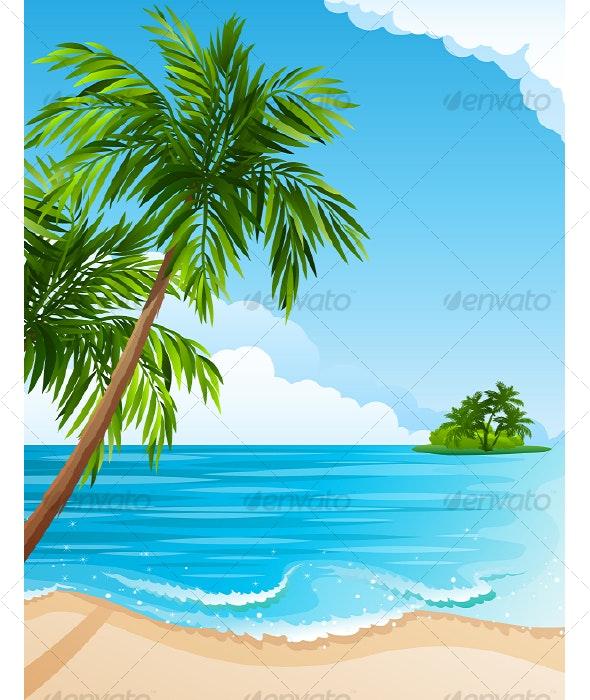 Tropical landscape - Travel Conceptual