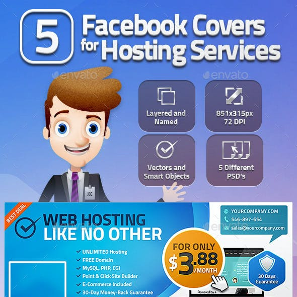 5 Facebook Covers for Hosting Services