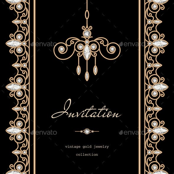 Gold Invitation Background