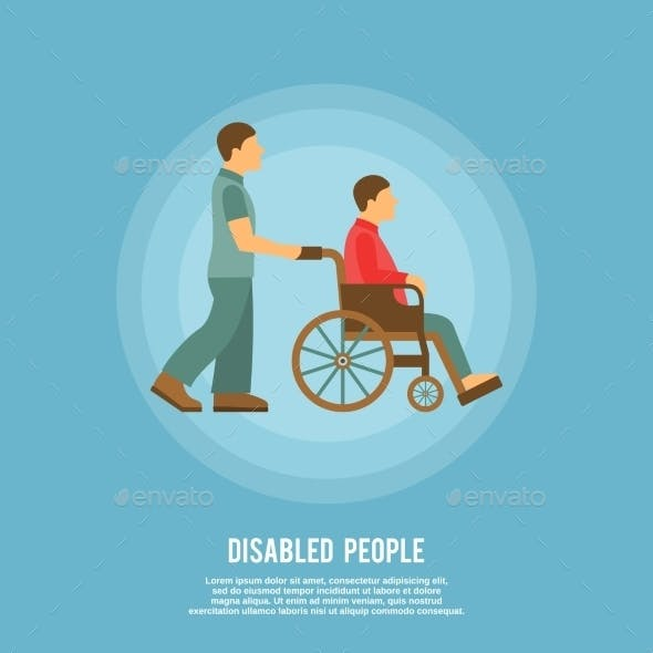 Disabled Person Poster