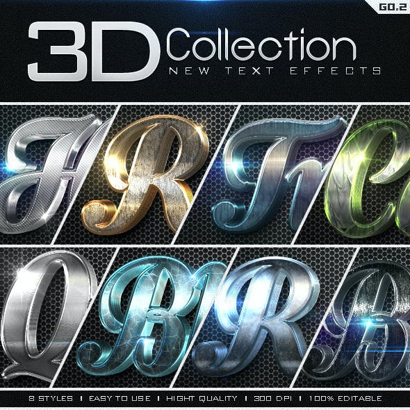 New 3D Collection Text Effects GO.2