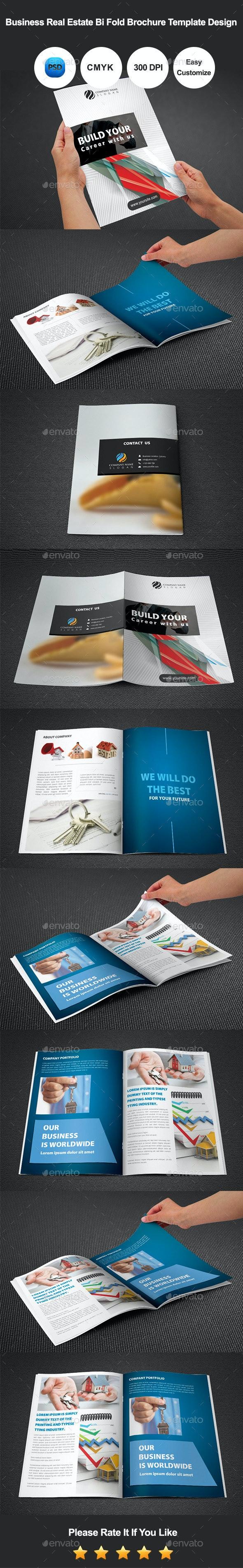 Real Estate Bi Fold Brochure Template Des - Corporate Brochures