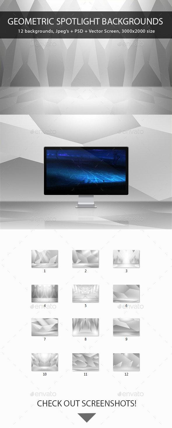 Geometric Spotlight Backgrounds - Backgrounds Graphics