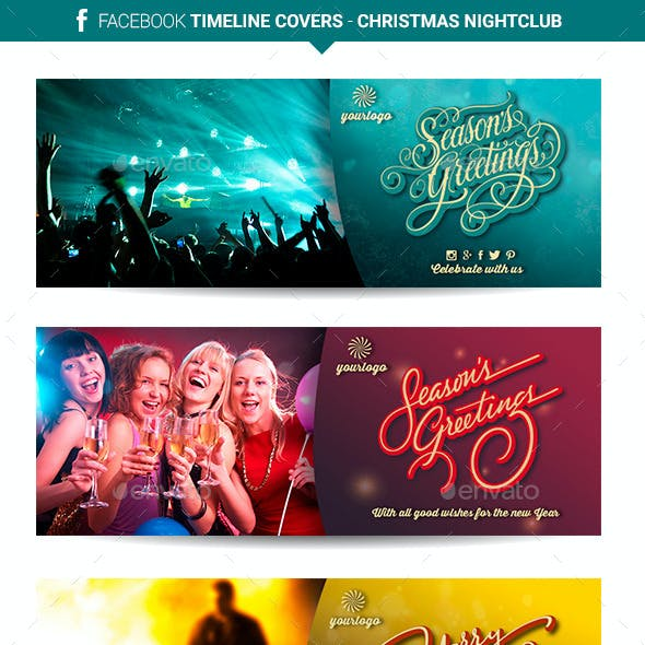 Facebook Timeline Covers - Christmas Nightclub