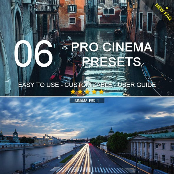 6 Pro Cinema Presets