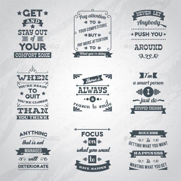Success Quotes Set