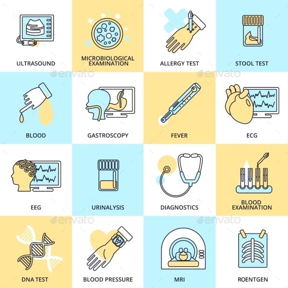 Medical Test Icons
