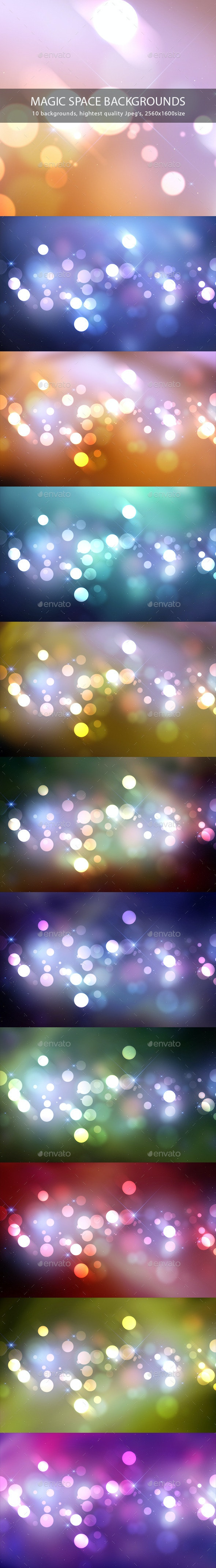 Magic Space Backgrounds - Abstract Backgrounds