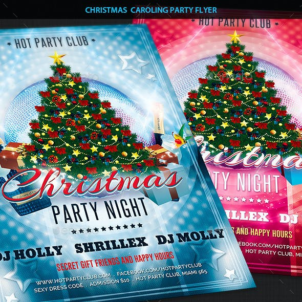 Christmas Caroling Party Flyer