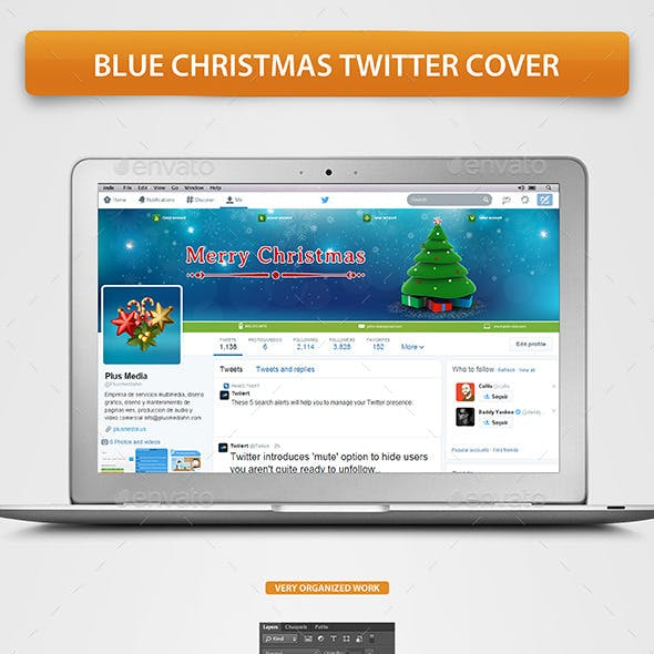 Blue Christmas Twitter cover
