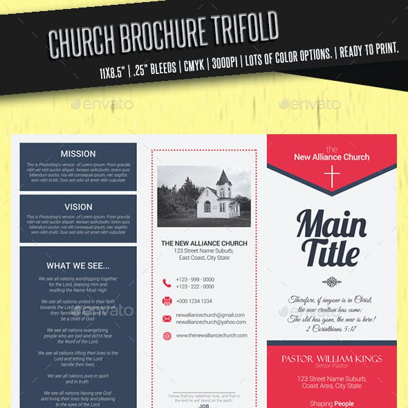 Church Brochure Trifold