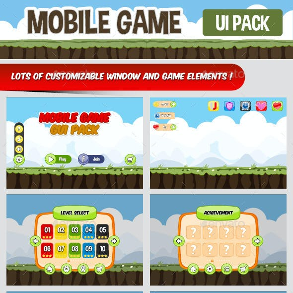 Mobile Game UI Pack
