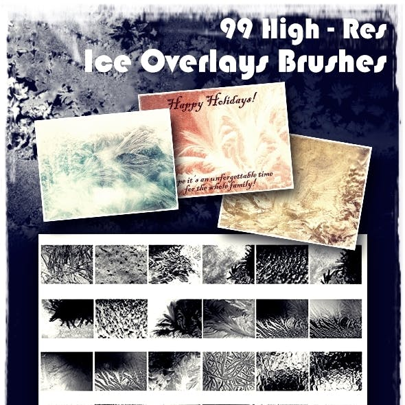 99 Ice Overlays Brushes