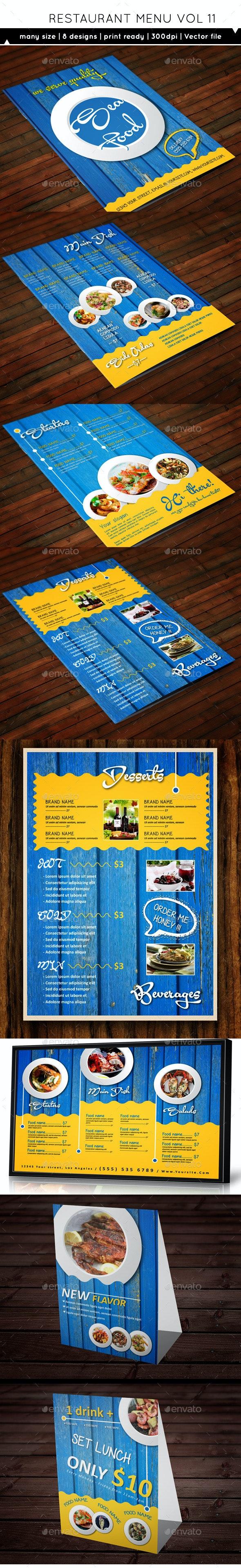 Restaurant Menu A4 Vol11