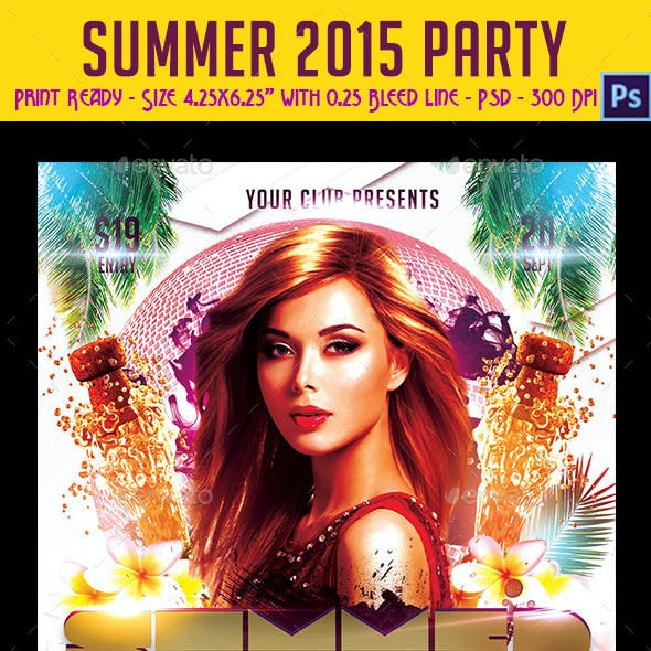 Summer 2015 Party Flyer