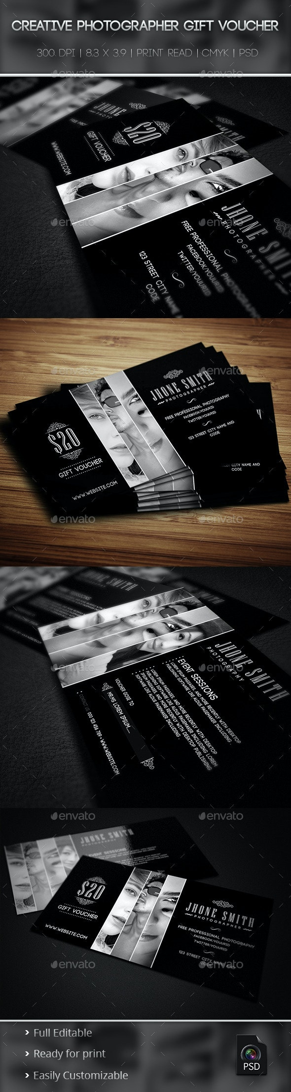 Creative Photographer Gift Voucher 01
