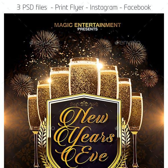 New Years Eve Flyer Facebook Instagram Template