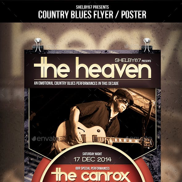 Country Blues Flyer / Poster