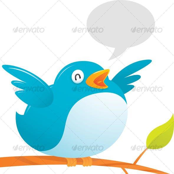 Fat Twitter Bird