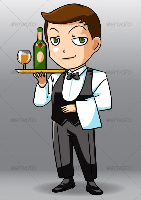 Cool Waiter - People Characters