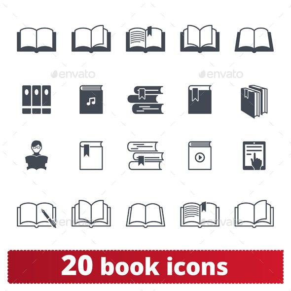 20 Book icons