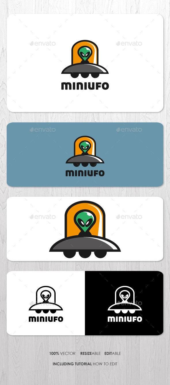 Mini UFO Mascot Logo - Objects Logo Templates