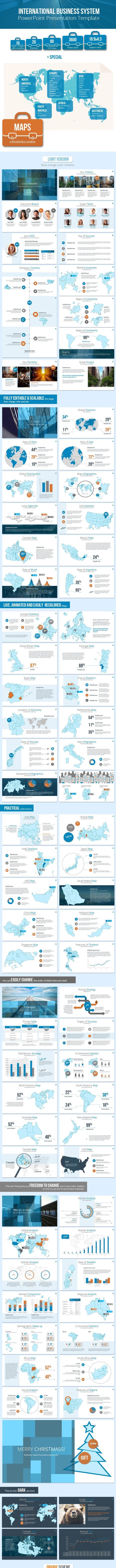 International Business System Presentation - Business PowerPoint Templates