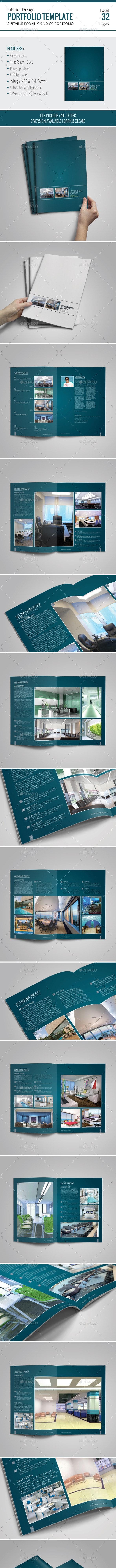 Interior Design Portfolio Template - Portfolio Brochures